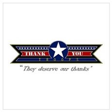 Thank You Troops Poster