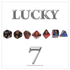 Lucky 7 Canvas Art