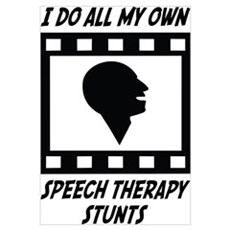 Speech Therapy Stunts Canvas Art