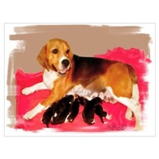 Beagle+puppies Poster