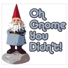 Oh Gnome You Didn't Framed Print