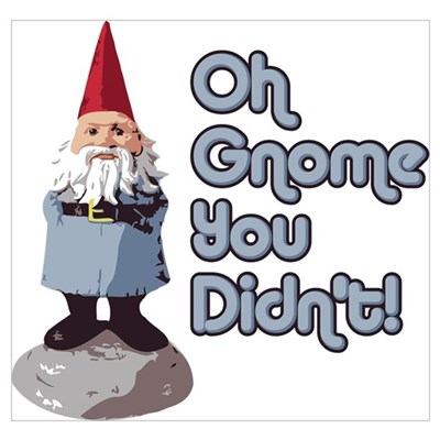 Oh Gnome You Didn't Poster