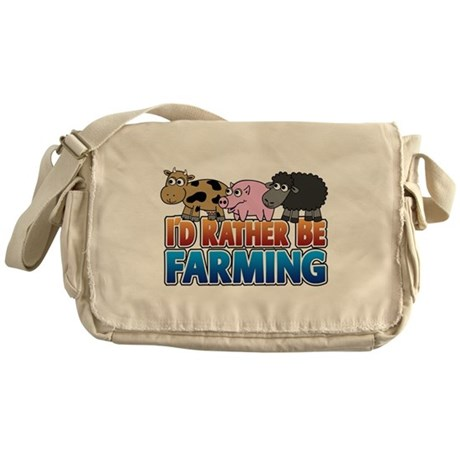 Farmville Inspired 3 animals Messenger Bag