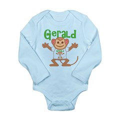 Little Monkey Gerald Long Sleeve Infant Bodysuit