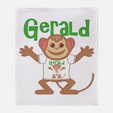 Little Monkey Gerald Throw Blanket