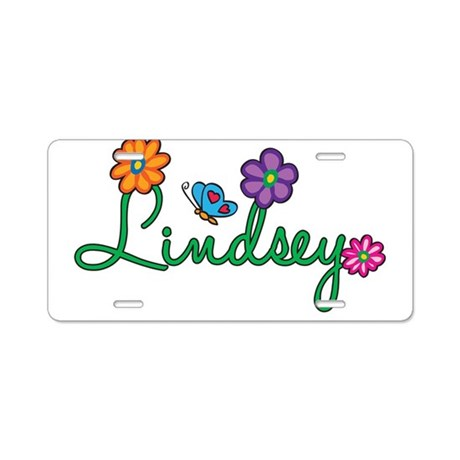 Lindsey Flowers Aluminum License Plate