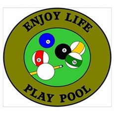 Enjoy Life Play Pool Poster