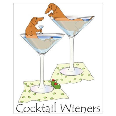 Cocktail Wieners (red) Framed Print