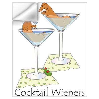 Cocktail Wieners (red) Wall Decal