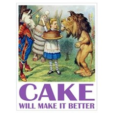 CAKE WILL MAKE IT BETTER Canvas Art