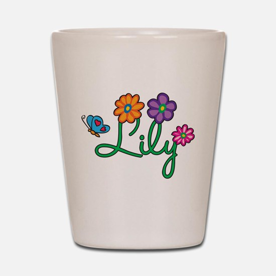 Lily Flowers Shot Glass