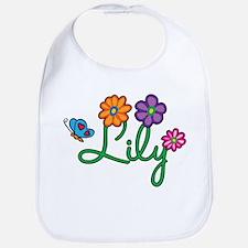 Lily Flowers Bib
