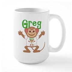 Little Monkey Greg Large Mug