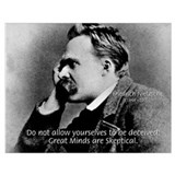 Friedrich nietzsche Wrapped Canvas Art