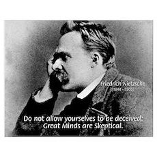 Friedrich Nietzsche Skeptical Poster