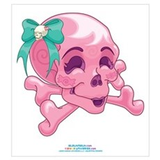 Kawaii Pink Skull Poster