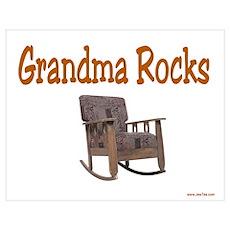 Grandma Rocks Poster