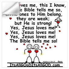 JESUS LOVES ME! Wall Decal