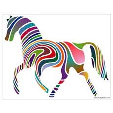 My Rainbow Horse Poster