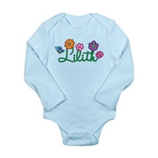 Lilith Flowers Long Sleeve Infant Bodysuit