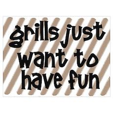 Fun Grills Poster