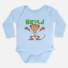 Little Monkey Harold Long Sleeve Infant Bodysuit
