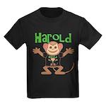 Little Monkey Harold Kids Dark T-Shirt