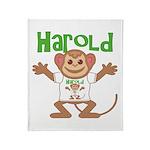 Little Monkey Harold Throw Blanket