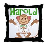 Little Monkey Harold Throw Pillow
