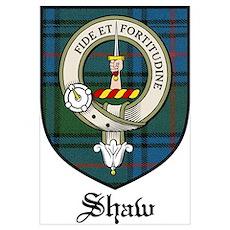 Shaw Clan Crest Tartan Poster