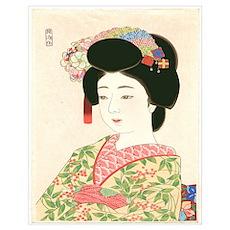 Maiko, Japanese Woodblock Print Poster