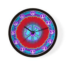 Tie Dye Clocks Wall Clock