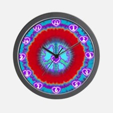 Tie Dye Clocks Wall Clock
