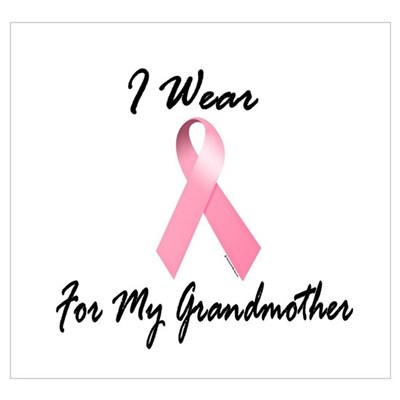 I Wear Pink For My Grandmother 1.2 r Poster
