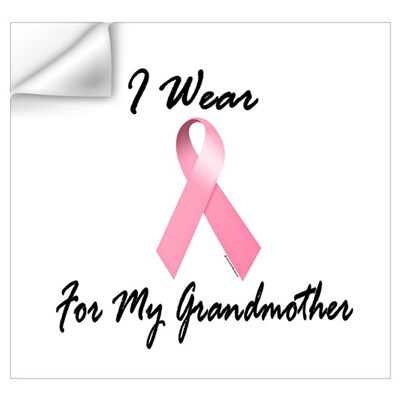 I Wear Pink For My Grandmother 1.2 r Wall Decal