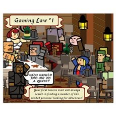 Gaming Law #1 Framed Print