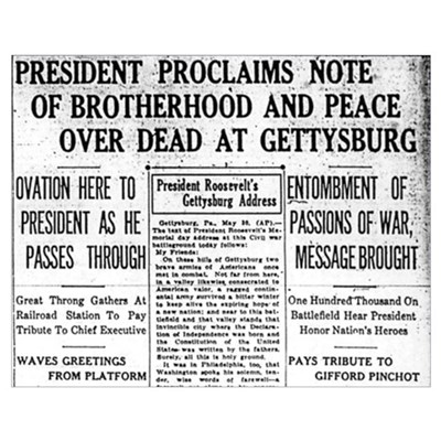 Lincoln's Gettysburg Address News Coverage Large P Poster