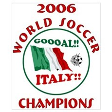 GOAL ITALY! 2006 Champions Poster