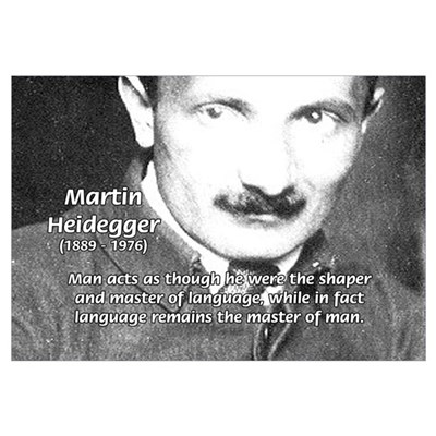 Man / Language: Heidegger Framed Print