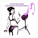 Court reporter Wrapped Canvas Art