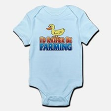 Duck: I'd rather be Farming Infant Bodysuit