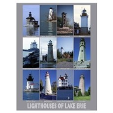 Lighthouses of Lake Erie Poster