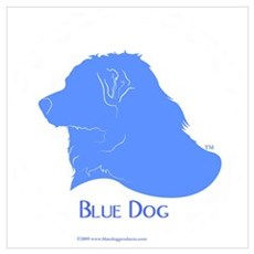 Classic Blue Dog Poster