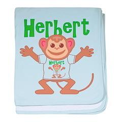 Little Monkey Herbert baby blanket