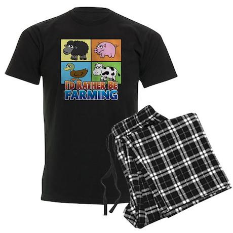 FARMING - Multiple Animals Men's Dark Pajamas