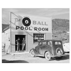 The Eight Ball Pool Room, 1940 Framed Print