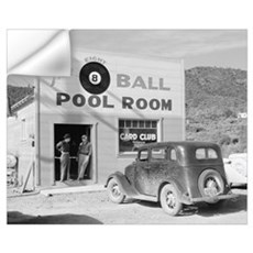 The Eight Ball Pool Room, 1940 Wall Decal