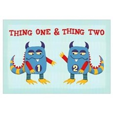 Thing One & Thing Two Canvas Art