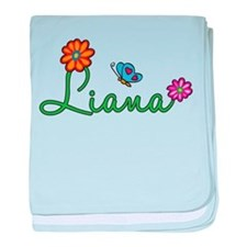 Liana Flowers baby blanket