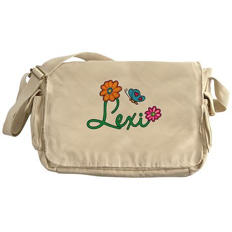 Lexi Flowers Messenger Bag